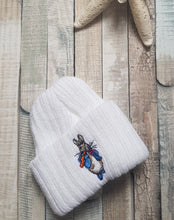 Load image into Gallery viewer, Premature baby knitted Peter Rabbit hat