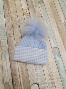 Personalised  First Size Ribbed Pom Pom Hats