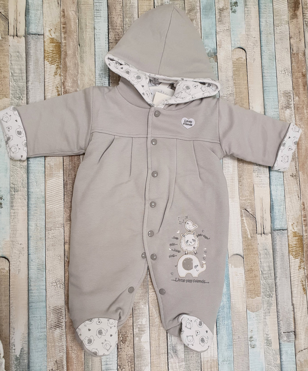 Dandelion Little Elephant Grey Pram suit