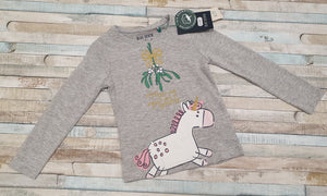 Blue Seven Christmas unicorn t shirt