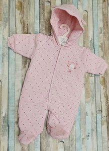 Dandelion pink tiny bear pram suit
