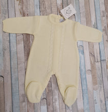 Load image into Gallery viewer, Dandelion lemon cable knit onesie