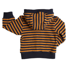 Load image into Gallery viewer, GYMP Navy & Mustard hooded cardigan