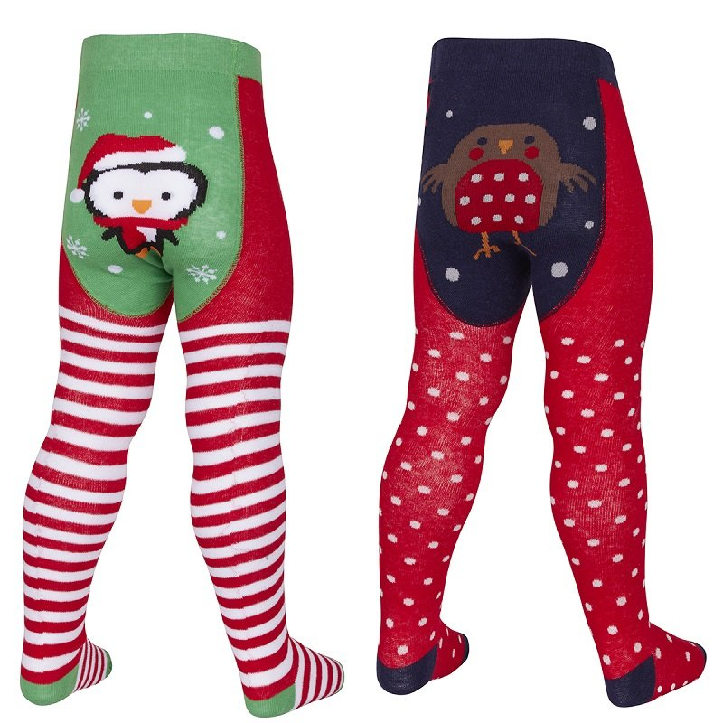 Festive cotton rich tights