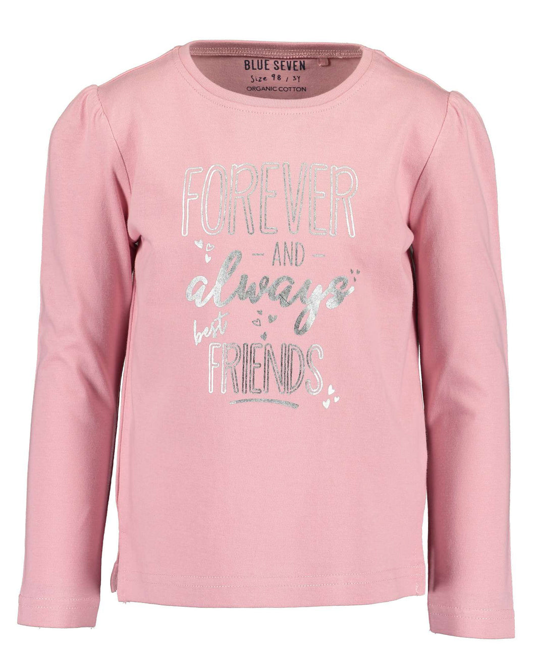 Blue Seven girls forever and always friends pink t shirt