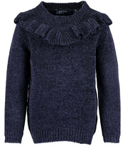 Load image into Gallery viewer, Blue Seven girls navy chenille jumper