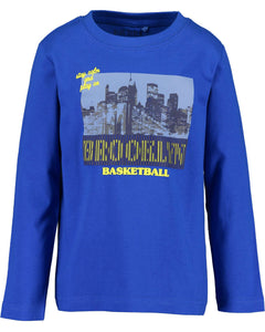 Blue Seven Electric Blue New Brooklyn Basketball long sleeved t shirt