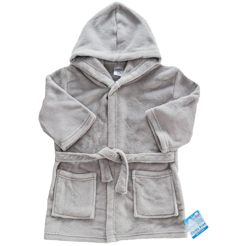 Childrens Coral Fleece Hooded Dressing Gown