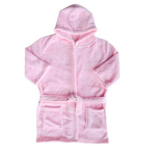 Personalised Childrens Coral Fleece Hooded Dressing Gown