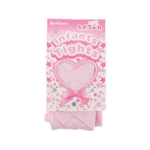 Soft touch infant latice shiny tights