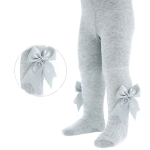 Soft touch infant grey bow tights