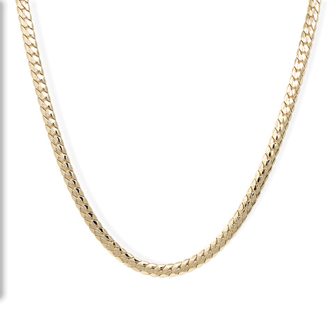 Gold Plated  Unisex Miami Cuban Chain- Thickness 10mm