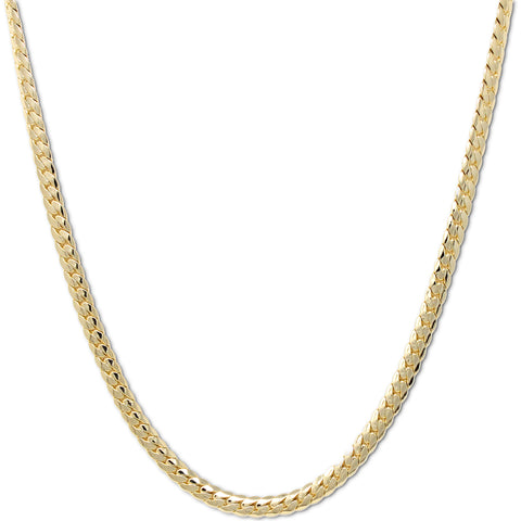 Gold Plated  Unisex Miami Cuban Chain- Thickness 8mm