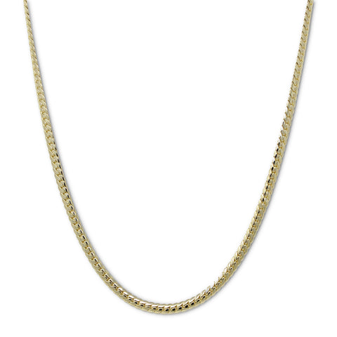 Gold Plated  Unisex Miami Cuban Chain- Thickness 7mm