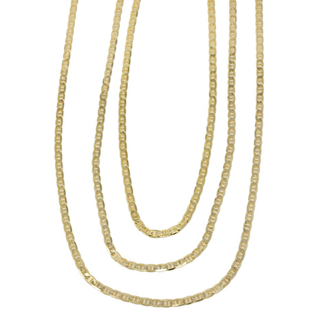 Gold Plated  Unisex Gucci Chain Thickness 4mm