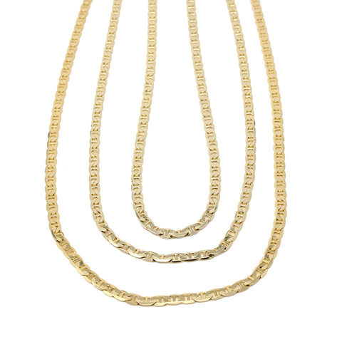 Gold Plated  Unisex Gucci Chain Thickness 5mm