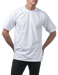 Pro Club Men's Heavyweight Cotton Short Sleeve Crew Neck T-Shirt, White, X-Large