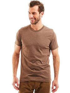 Bolter 4 Pack Men's Everyday Cotton Blend Short Sleeve T-Shirts (Large, Earth Tones)