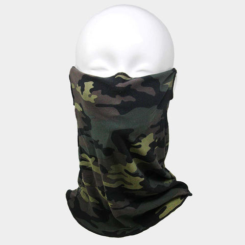 Unisex Multi Purpose Camo Print Seamless Face Tube Mask Magic Scarf
