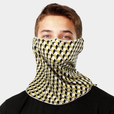 Unisex Multi Purpose Geometric Print Seamless  Face Tube Mask Magic Scarf
