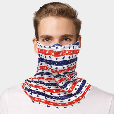 Unisex Multi Purpose USA Flag Print Seamless Face Tube Mask Magic Scarf