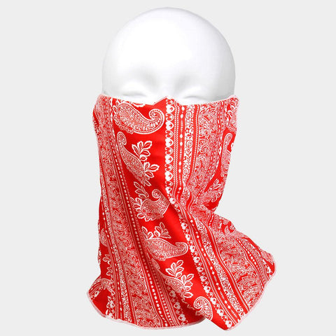 Unisex Multi Purpose Paisley Print Seamless Face Tube Mask Magic Scarf