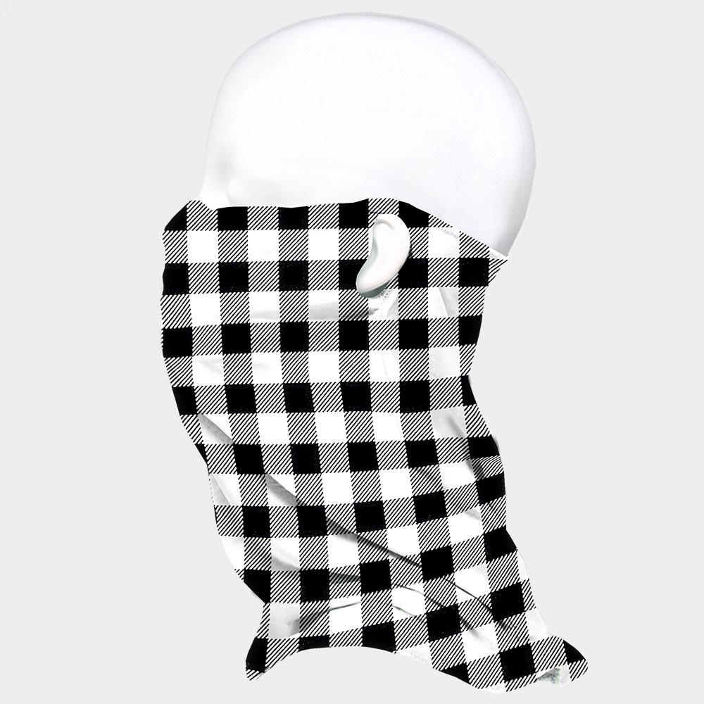 Buffalo Check Print Seamless Face Tube Mask Magic Scarf