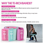 Te-Rich Women's Resistance Workout Exercise Bands for Legs and Butt