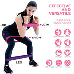 Load image into Gallery viewer, Resistance Exercise Bands, Set of 5 Fitness Bands Perfect for Legs and Butt Yoga Crossfit Strength Training Pilates with Instruction Guide, Carry Bag