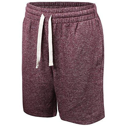 ProGo Men's Classic Fit Casual Fleece Jogger Gym Workout Short Pants