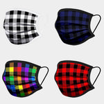 Multi Color Buffalo Check Print Cotton Non-Medical Reusable Fashion Mask