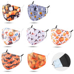 Load image into Gallery viewer, Pumpkin Print Cotton Kids Non-Medical Reusable Fashion Masks