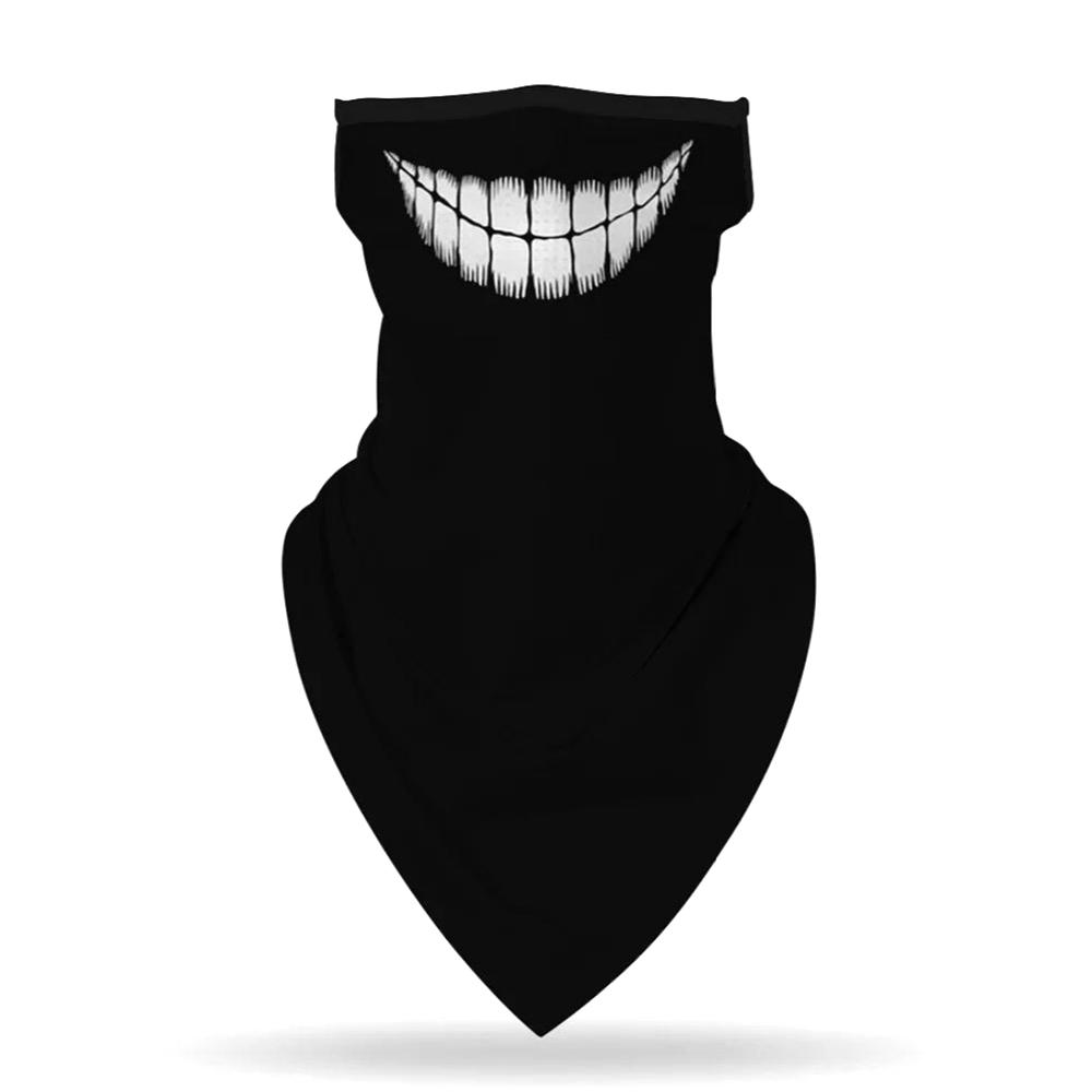 Mutl Pattern Print Breathable Earloop Neck Gaiter Face Cover