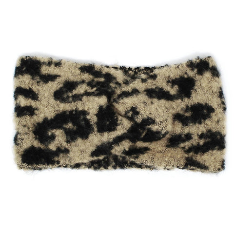 Faux Fur Animal Print Magic Scarf-Multi Purpose Scarf and headband