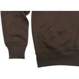 HENRY & WILLIAM Men's Basic Lightweight Full Zip UP Fleece Hoodie Jacket- Brown