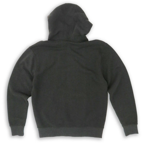 HENRY & WILLIAM Men's Basic Lightweight Full Zip UP Fleece Hoodie Jacket- Charcoal