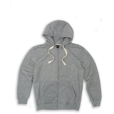 HENRY & WILLIAM Men's Basic Lightweight Full Zip UP Fleece Hoodie Jacket-Grey