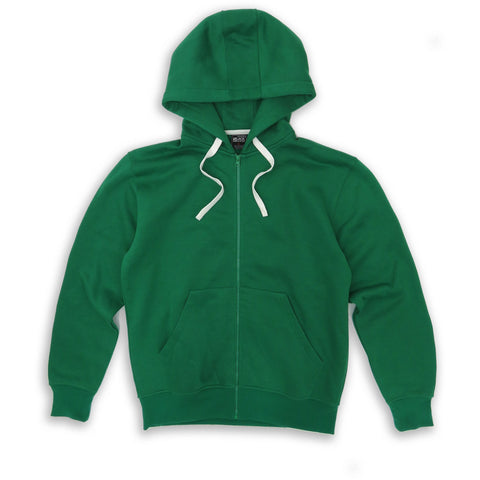 HENRY & WILLIAM Men's Basic Lightweight Full Zip UP Fleece Hoodie Jacket- Green