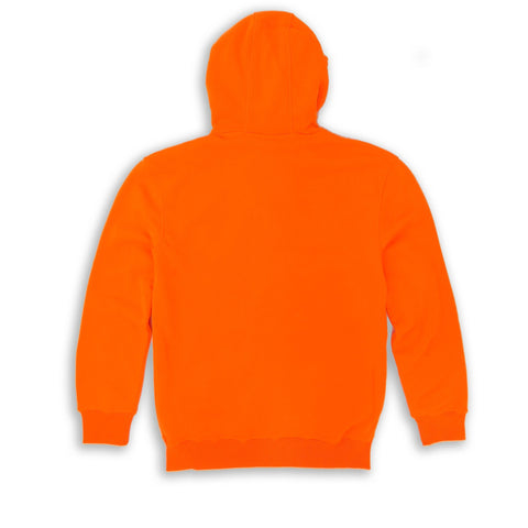HENRY & WILLIAM Men's Basic Lightweight Full Zip UP Fleece Hoodie Jacket- Orange