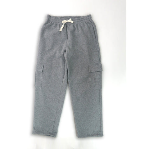 H&W Men's Lightweight Basic Casual Fleece Cargo Pants S-6XL-Grey