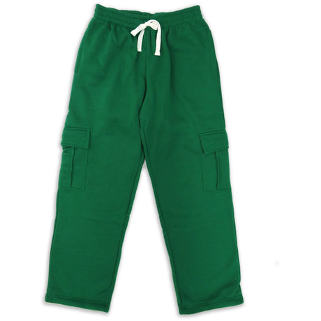H&W Men's Lightweight Basic Casual Fleece Cargo Pants S-6XL-Green