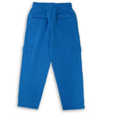 H&W Men's Lightweight Basic Casual Fleece Cargo Pants S-6XL-Turquoise