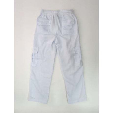 H&W Men's Lightweight Basic Casual Fleece Cargo Pants S-6XL-White