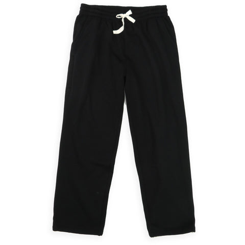 Henry & William Men's Lightweight Basic Fleece Sweatpants with Side Zipper Pocket-BLACK