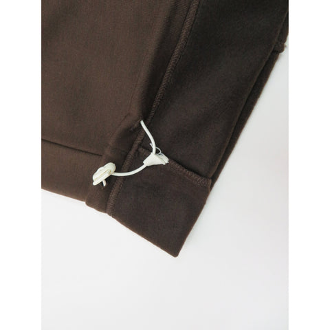 Henry & William Men's Lightweight Basic Fleece Sweatpants with Side Zipper Pocket-BROWN