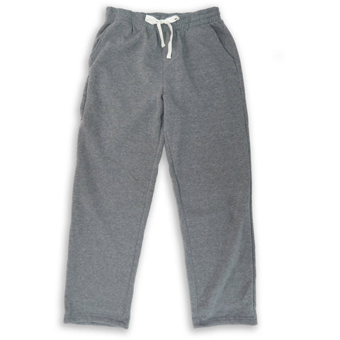 Henry & William Men's Lightweight Basic Fleece Sweatpants with Side Zipper Pocket-GREY
