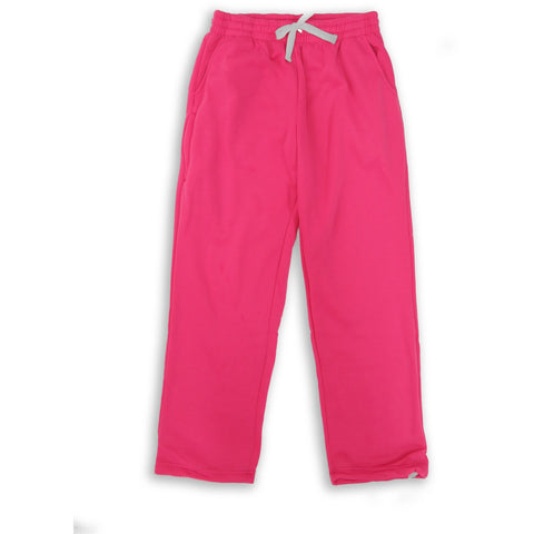 Henry & William Men's Lightweight Basic Fleece Sweatpants with Side Zipper Pocke-PINK