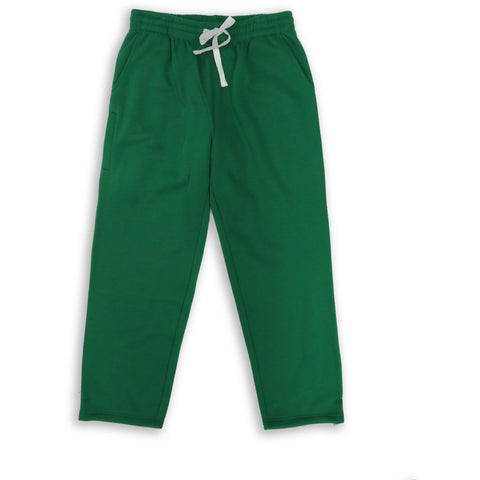 Henry & William Men's Lightweight Basic Fleece Sweatpants with Side Zipper Pocket-GREEN