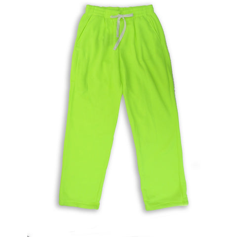 Henry & William Men's Lightweight Basic Fleece Sweatpants with Side Zipper Pocket-LIME