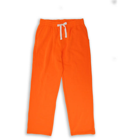 Henry & William Men's Lightweight Basic Fleece Sweatpants with Side Zipper Pocket-ORANGE